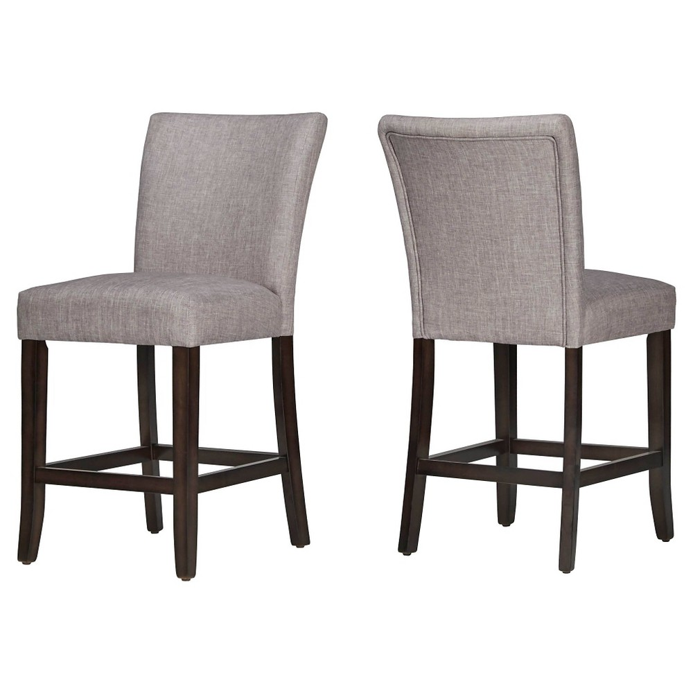 24 InspireQ Quinby Counter Stool - Smoke (Grey) (set of 2)