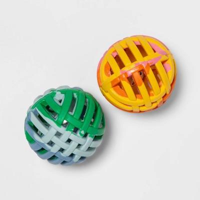 Rubber Lattice Tie Dye Cat Toy Balls - 2pk - Boots & Barkley™