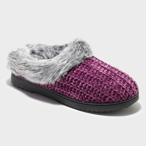 Women's Dearfoams Chenille Rib Knit Clog - image 1 of 4