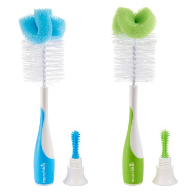 Munchkin 2pk Baby Bottle & Nipple Brush