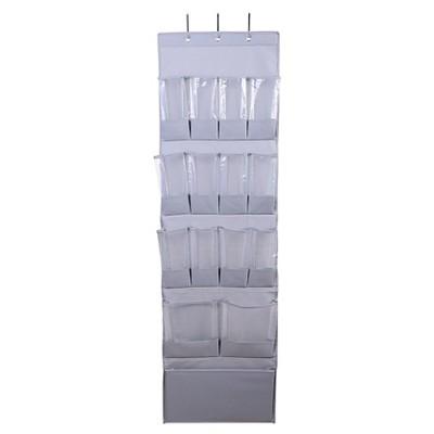 15 Pocket Over The Door Hanging Shoe Organizer Gray Room Essentials