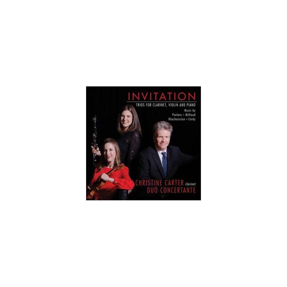 Christine Carter - Invitation:Trios For Carinet Violin A (CD)