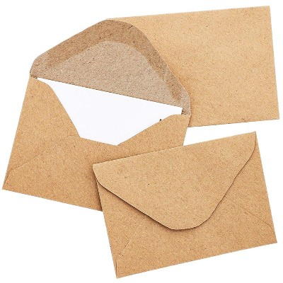 100-Count Bulk Mini Kraft Envelopes for Small Note Cards, Business and Gift Cards, 4.1 x 2.75 inches