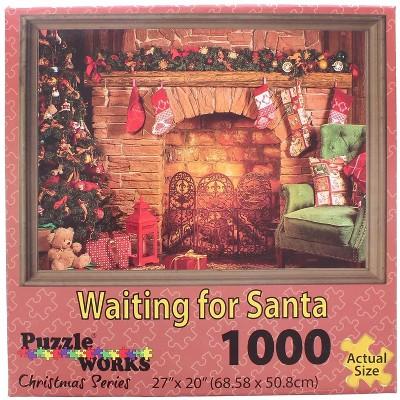 Puzzleworks Waiting On Santa 1000 Piece Jigsaw Puzzle