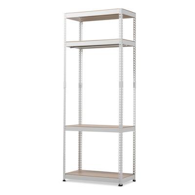 Gavin White Metal 4 - Shelf Closet Storage Racking Organizer - White - Baxton Studio