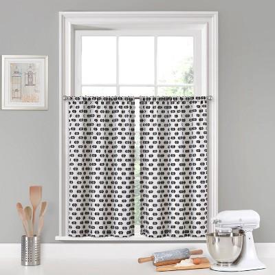 Set of 2 Modo Rod Pocket Curtain Tiers - Vue