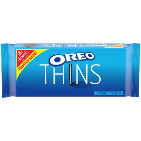 Oreo Thins Chocolate Sandwich Cookies Family Size - 13.1oz - image 1 of 4
