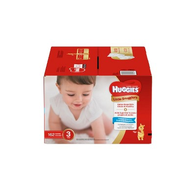 Huggies Little Snugglers Diapers - Size 3 (162ct)