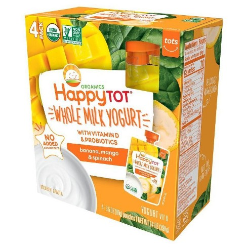 Organics Happy Tot Banana Mango & Spinach Flavored Whole Milk Yogurt - 14oz - image 1 of 1