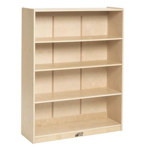 "ECR4Kids Birch Bookcase with Adjustable Shelves, Wood Book Shelf Organizer, 48""H - image 1 of 1"