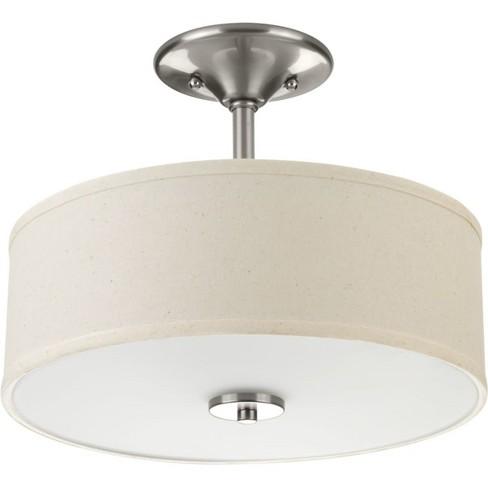 "Progress Lighting P3712 Inspire 2 Light 13"" Wide Semi Flush Mount Ceiling Fixture - image 1 of 1"
