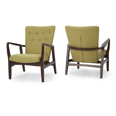 Set of 2 Becker Upholstered Armchairs Wasabi Green - Christopher Knight Home