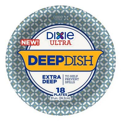 "Dixie Ultra 9"" Deep Dish Paper Plates - 28oz/18ct"