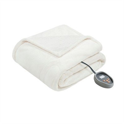 """Microlight Berber Electric Electric Throw (60""""x70"""")Ivory - Beautyrest"""