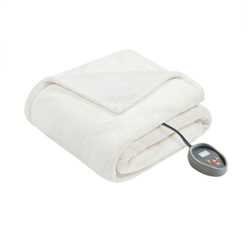 """Microlight Berber Electric Throw (60""""x70"""") Ivory - Beautyrest - image 1 of 4"""