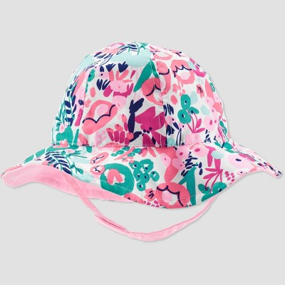 Baby Girls' Floral Bucket Swim Hat - Just One You® made by carter's Pink 6-12M