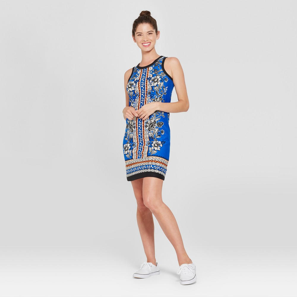 Women's Floral Print Dress - 3Hearts (Juniors') Blue L, Size: Small, Orange Blue was $24.98 now $9.99 (60.0% off)