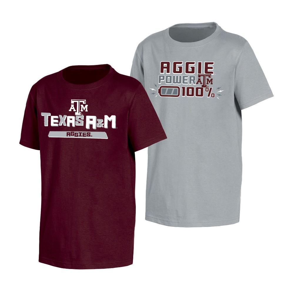 NCAA Toddler Boys' 2pk T-Shirt Texas A&m Aggies - 2T, Multicolored
