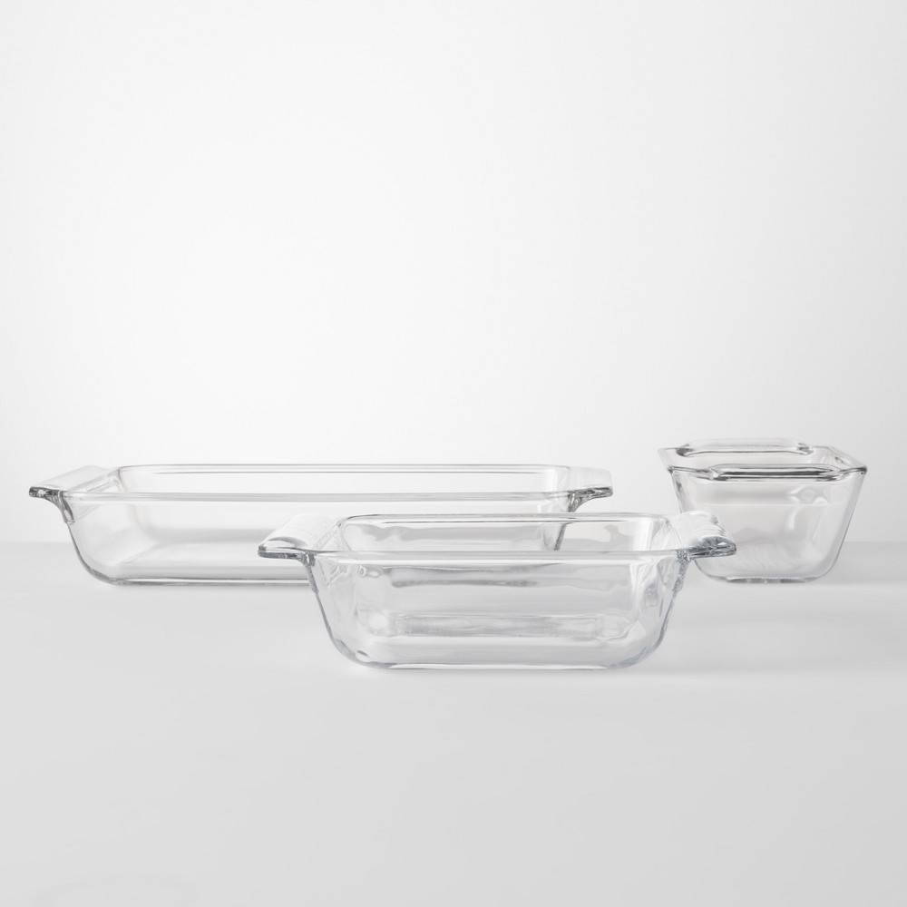 Image of 3pc Glass Bakeware Set - Made By Design
