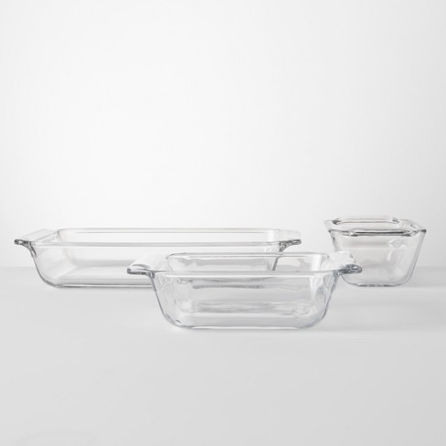 Set of 3 Bakeware Set Glass - Made By Design™ - image 1 of 3