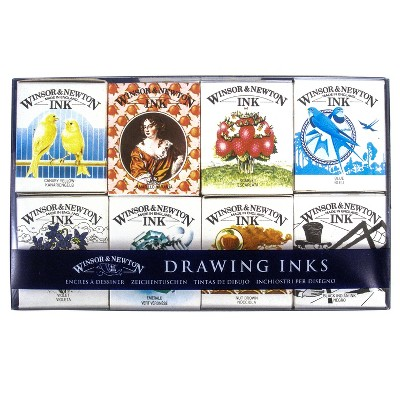 Drawing Ink Pack Henry Collection 8ct - Winsor and Newton
