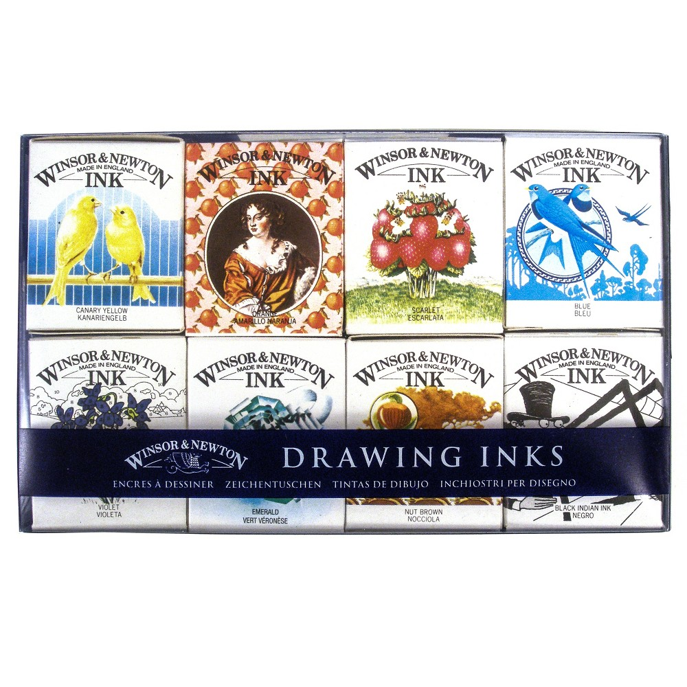 Image of Drawing Ink Pack Henry Collection 8ct - Winsor and Newton