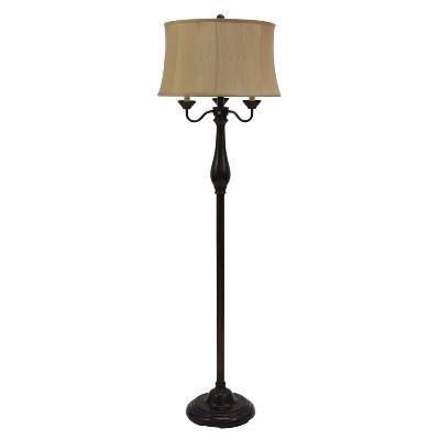 "63"" Repeat Six Way Floor Lamp Bronze - Decor Therapy"