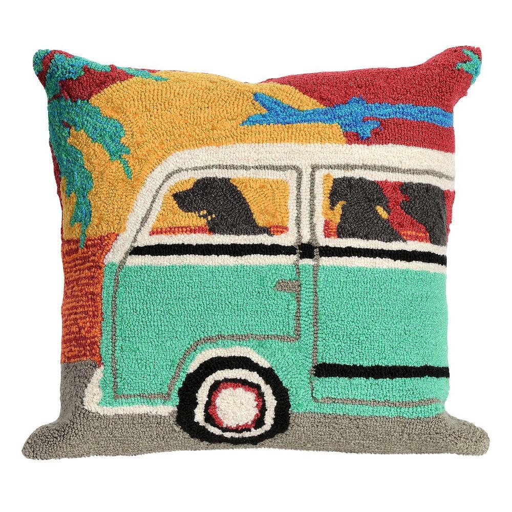 "Image of ""Sunset Beach Trip Throw Indoor/Outdoor Throw Pillow (18""""x18"""") - Liora Manne"""