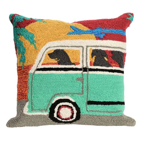 Sunset Beach Trip Throw Indoor Outdoor Pillow 18 X18 Liora Manne