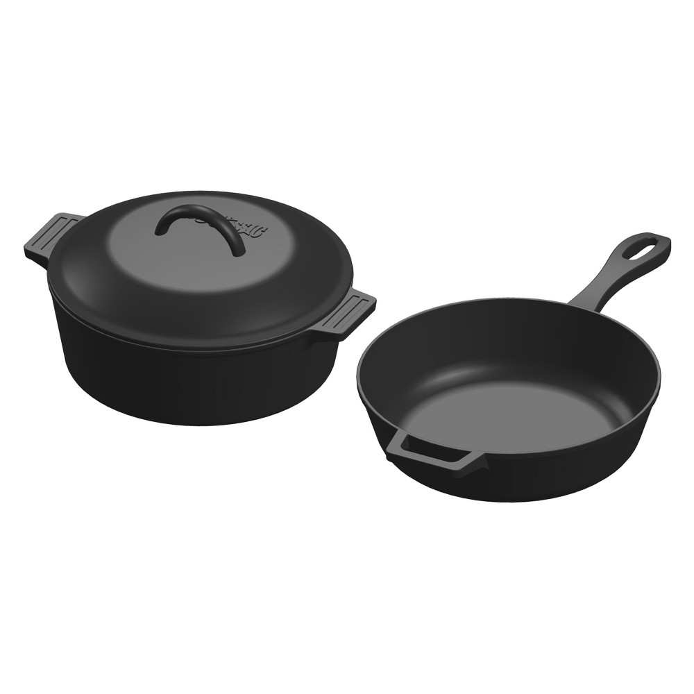 Bayou Classic Cast Iron 3pc Cookware Set, Black