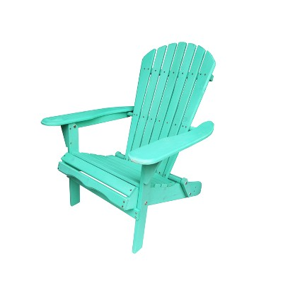 Villaret Wood Adirondack Chair - Green - Thy Hom