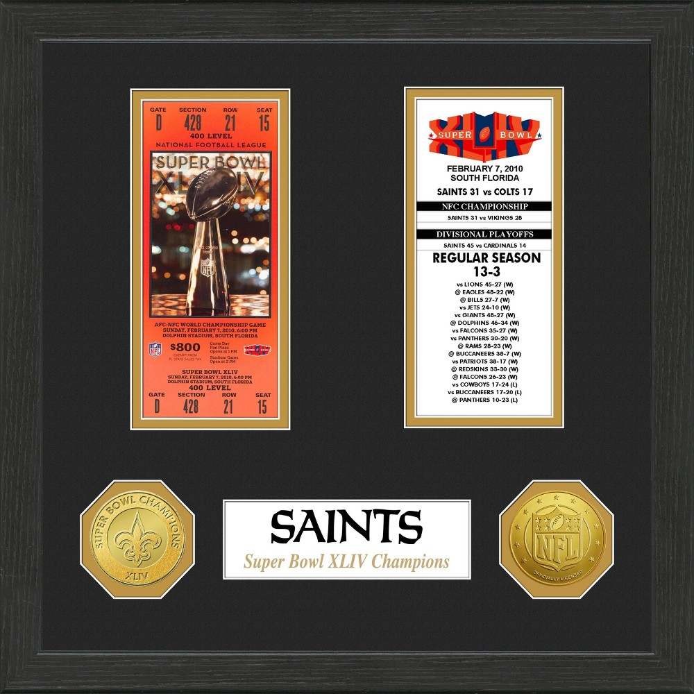 NFL New Orleans Saints Super Bowl Championship Ticket Collection