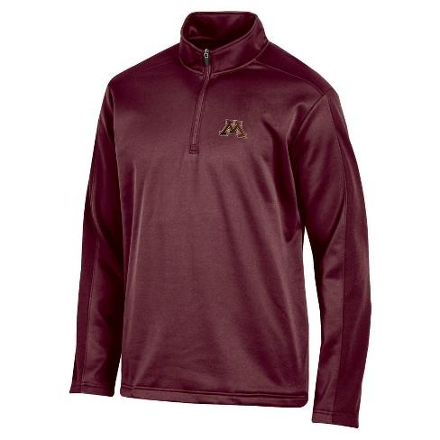 NCAA Men's Victory Call Long Sleeve 1/4 Zip Poly Impact Fleece Shirt Minnesota Golden Gophers - XL - image 1 of 1