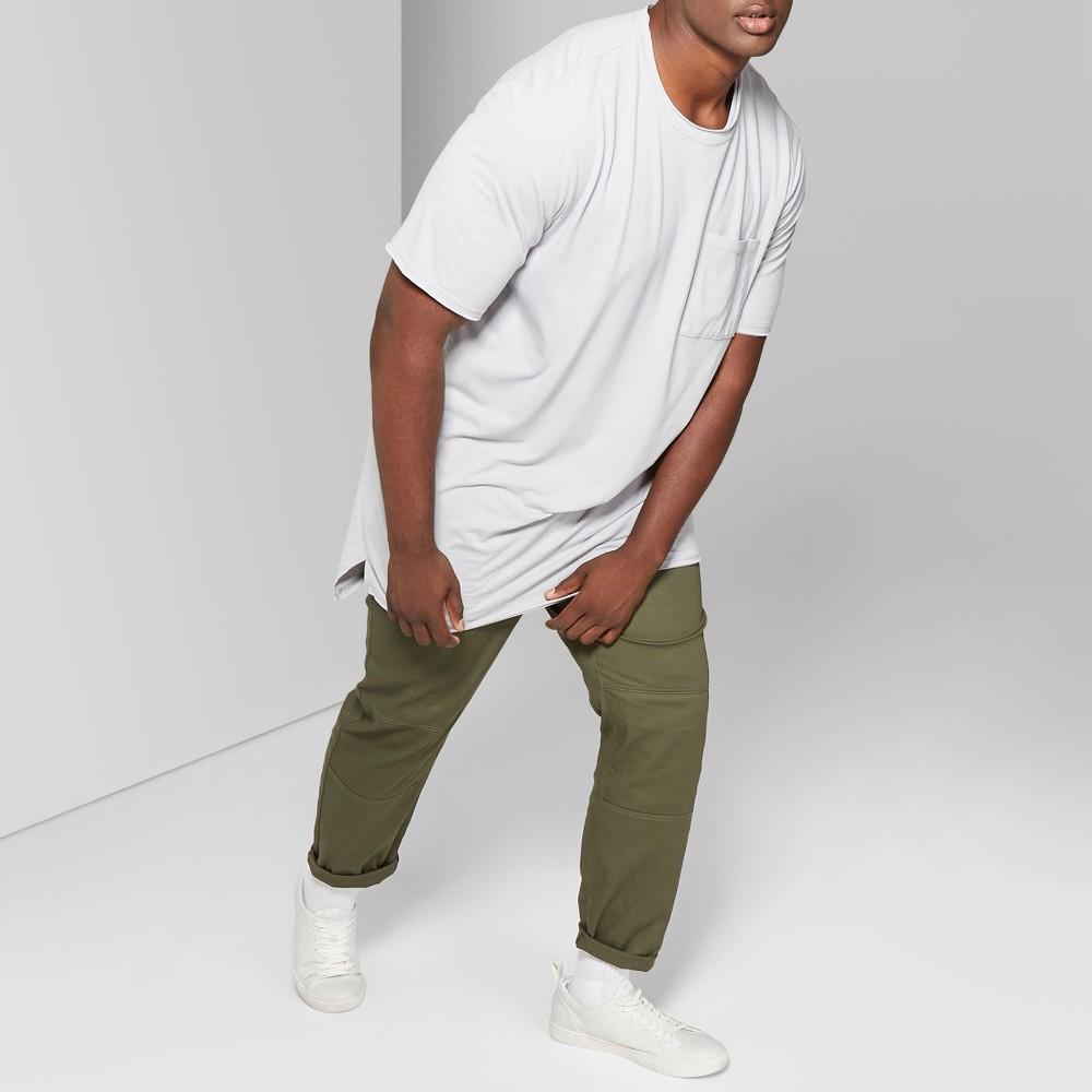 Men's Big & Tall Short Sleeve Long Line T-Shirt - Original Use Masonry Gray 5XBT