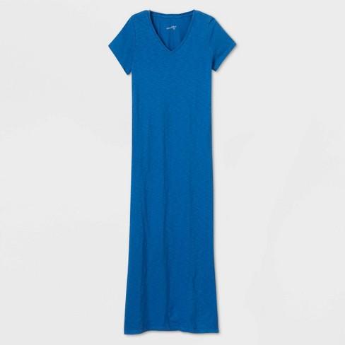 Women's Short Sleeve T-Shirt Dress - Universal Thread™ Blue S