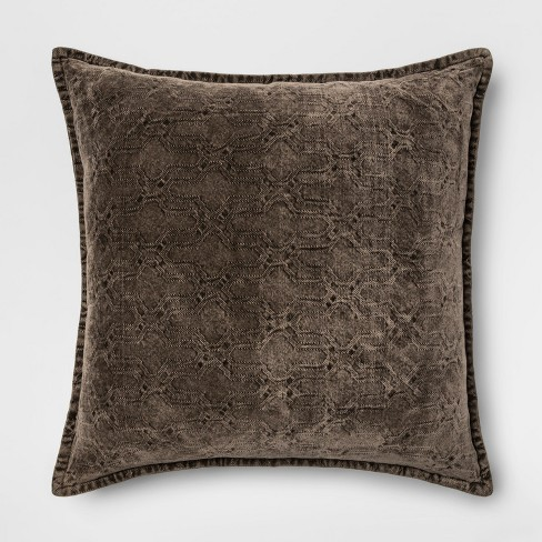 Stonewashed Chenille Oversize Square Throw Pillow - Threshold™ - image 1 of 2