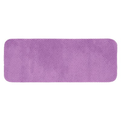 "22""x60"" Cabernet Nylon Washable Bath Runner Purple - Garland"