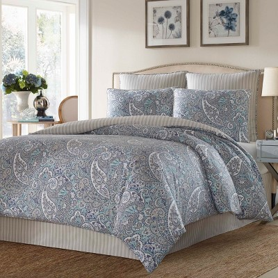 Blue Lancaster Comforter Set - Stone Cottage