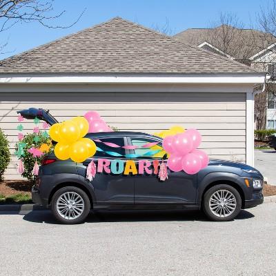 Girl Dinosaur Birthday Parade Car Party Decoration Kit