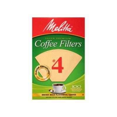 Melitta Natural Brown #4 Coffee Filter 100ct