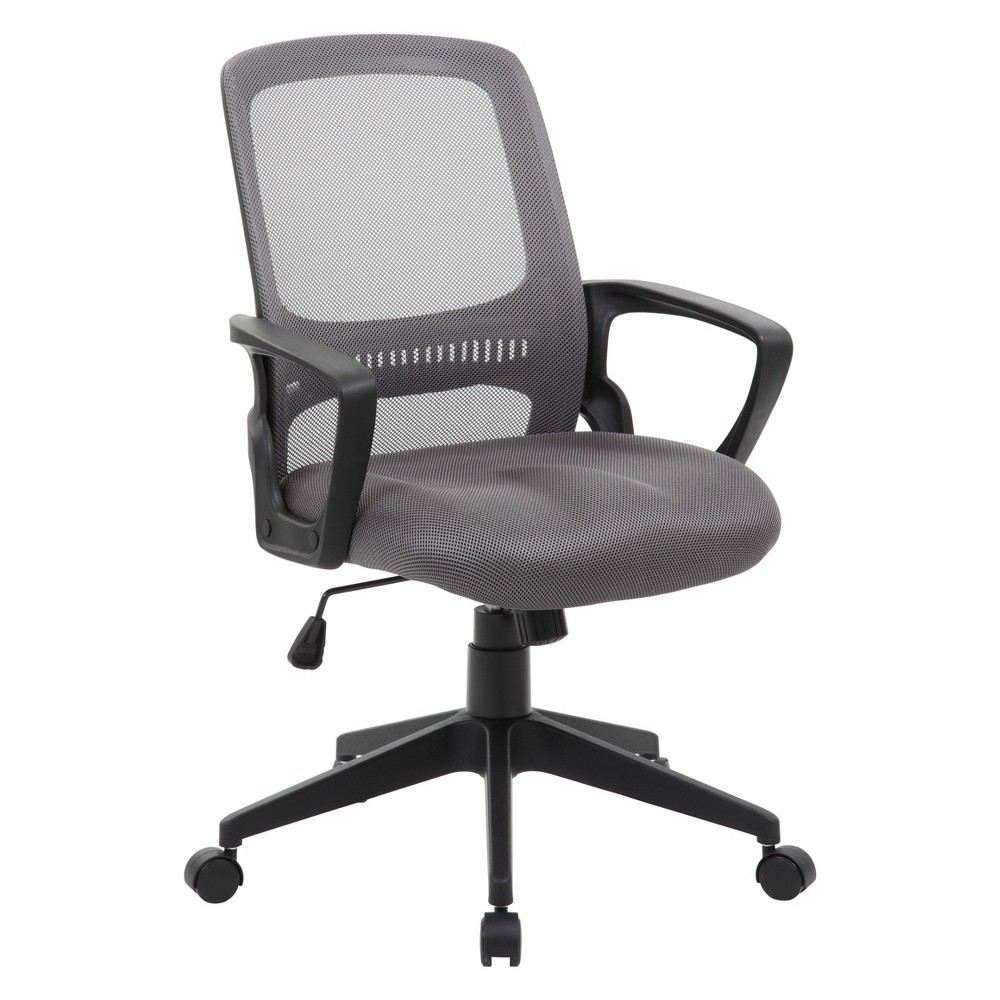 Mesh Task Chair Gray - Boss