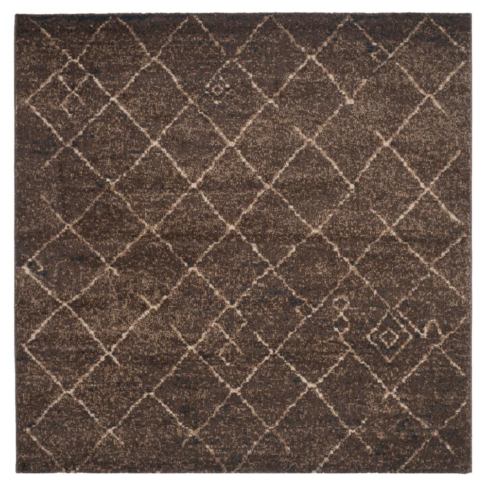 Tunisia Rug - Dark Brown - (6'x6' Square) - Safavieh