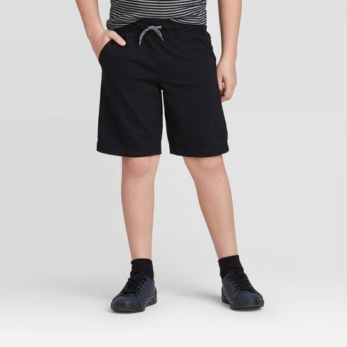 Boys' Pull-On Knit Shorts - Cat & Jack™ Black - image 1 of 3