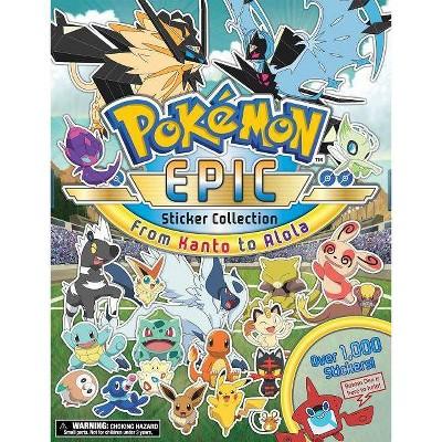 Pokémon Epic Sticker Collection: From Kanto to Alola - by Pikachu Press (Paperback)