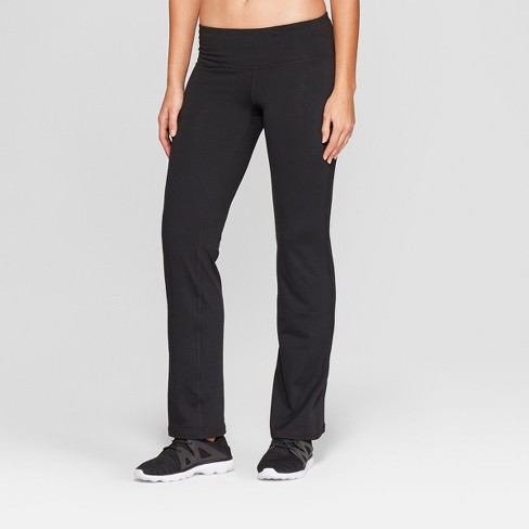 Women's Everyday Straight Mid-Rise Pants - C9 Champion® Black - image 1 of 4