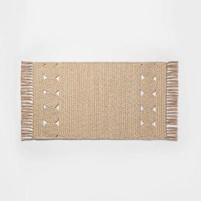 "34"" x 20"" Braided Kitchen Rug Natural - Opalhouse™"