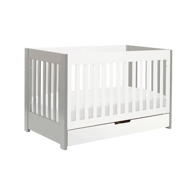 Babyletto Mercer 3-in-1 Convertible Crib with Toddler Rail - Gray/White