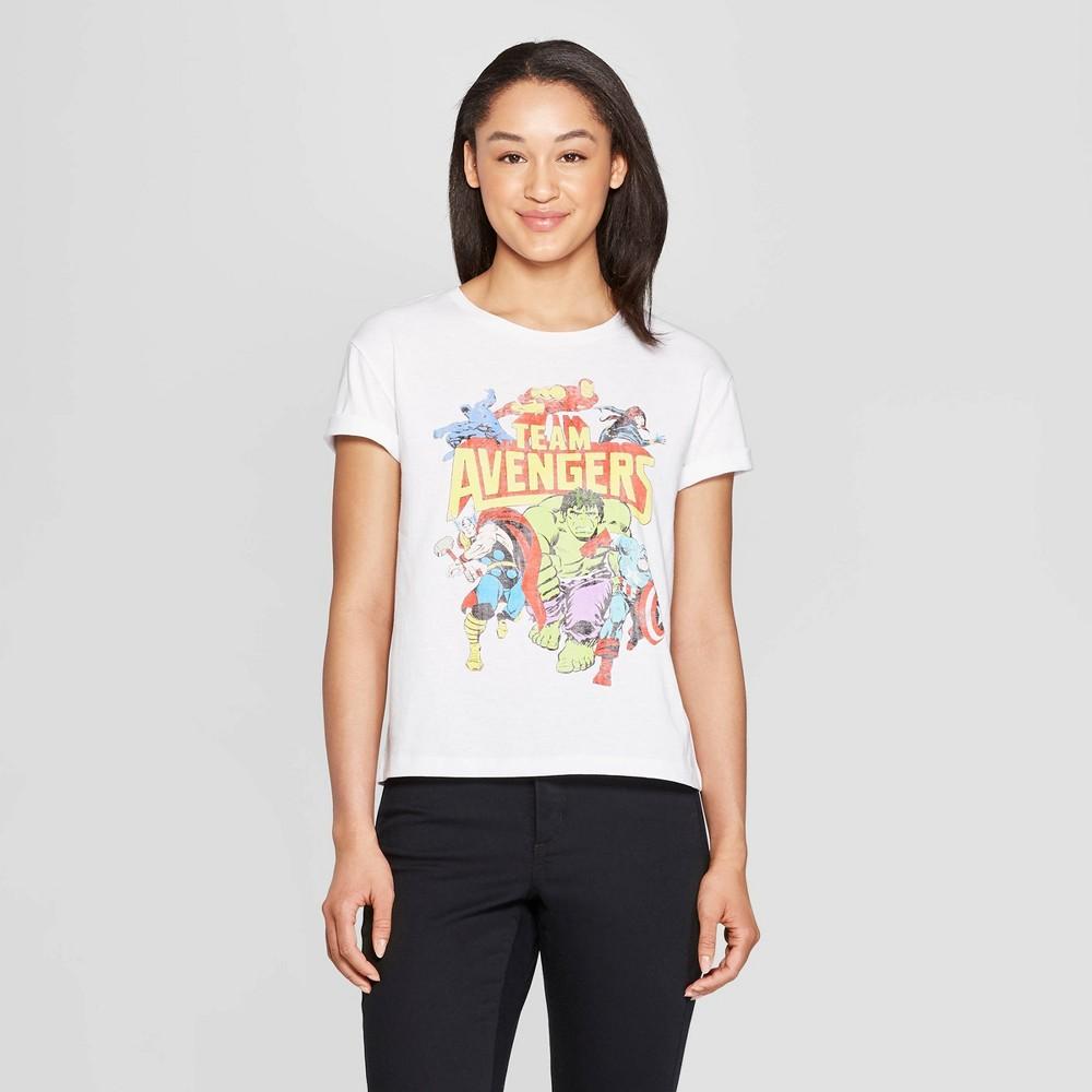 Women's Marvel Team Avengers Short Sleeve T-Shirt (Juniors') - White S