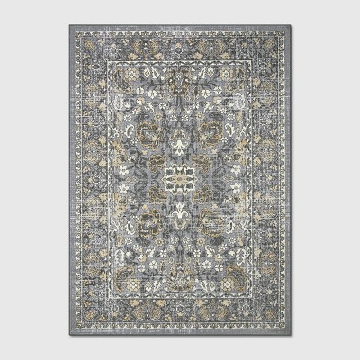 5'X7' Floral Tufted Area Rugs Gray - Threshold™
