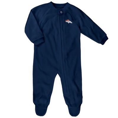 Denver Broncos Baby Boys' Embroidered Team Logo Footed Sleep N' Play 6-9 M